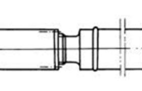 SWP型双十字轴式万向联轴器的七种型式(摘自JB/T 3241—1991)
