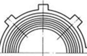 离合器摩擦片上的沟槽形式