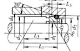 机械密封的结构非平衡式主要尺寸 (U型)