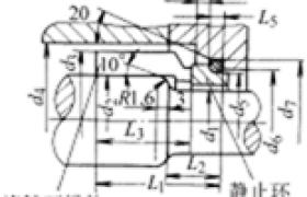 机械密封的结构非平衡式主要尺寸 (B型)
