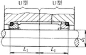 机械密封的结构一端为平衡式结构 另一端为非平衡式结构 主要尺寸(UB型)