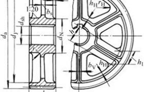铸造齿轮结构及尺寸