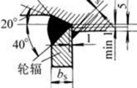 辐板的焊口结构