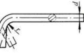 圆钢弯曲的推荐尺寸    (mm)