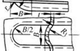 加强肋的形状、尺寸及间距   (mm)
