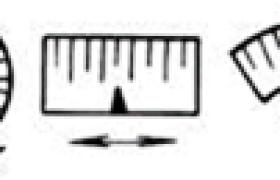 两类仪表结构的特性比较      (mm)
