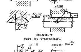 钩头薄型楔键连接强度校核计算